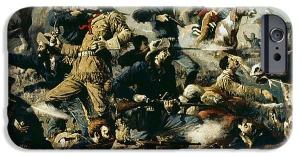 The Horse iPhone Cases - Battle of Little Bighorn iPhone Case by Edgar Samuel Paxson