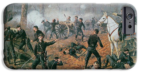 Hornets Nest iPhone Cases - Battle of Shiloh iPhone Case by T C Lindsay