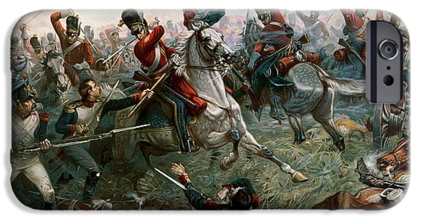 Army Men iPhone Cases - Battle of Waterloo iPhone Case by William Holmes Sullivan