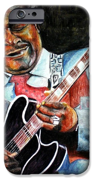B.b.king iPhone Cases - BBKing iPhone Case by Frances Marino