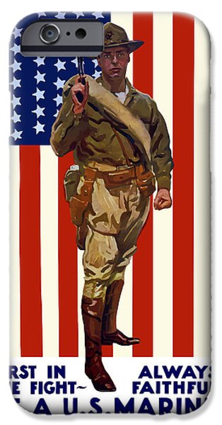 History Mixed Media iPhone Cases - Be A US Marine iPhone Case by War Is Hell Store