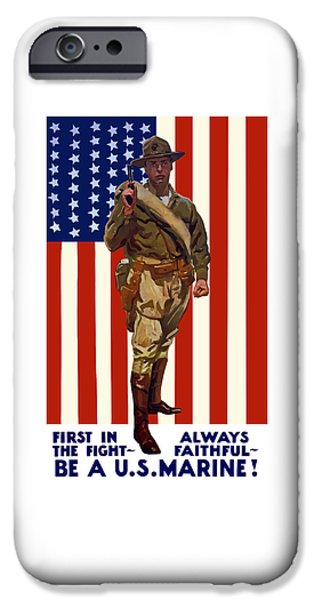 Dogs Mixed Media iPhone Cases - Be A US Marine iPhone Case by War Is Hell Store