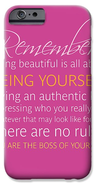 Be Yourself IPhone 6 Case by Luzia Light