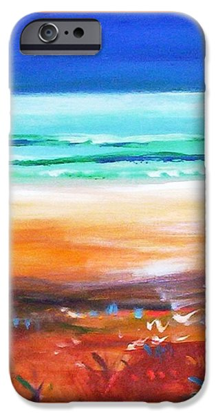 IPhone 6 Case featuring the painting Beach Joy by Winsome Gunning