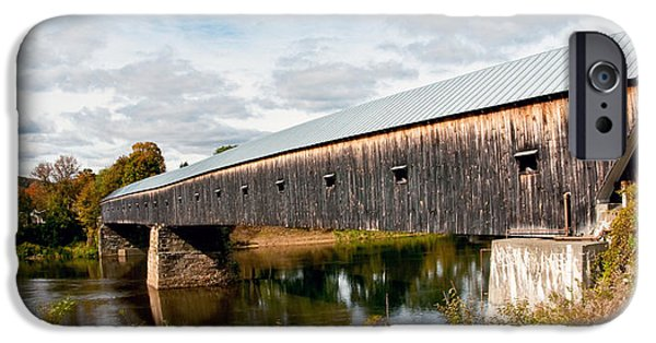 Covered Bridge iPhone Cases - Between Here and There iPhone Case by Aron Kearney Fine Art Photography