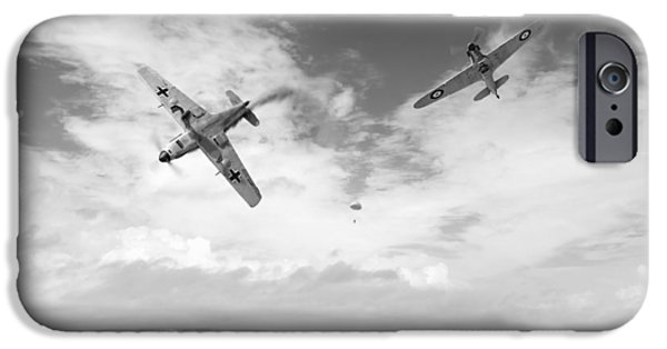 IPhone 6 Case featuring the photograph Bf109 Down In The Channel Bw Version by Gary Eason