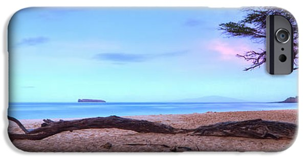 Morning iPhone Cases - Big Beach in Makena Maui iPhone Case by Dustin K Ryan
