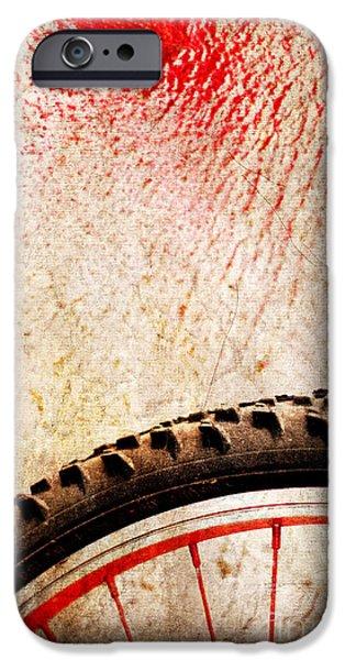 Bike Wheel Red Spray IPhone 6 Case