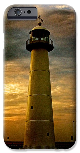 Lighthouse iPhone Cases - Biloxi Lighthouse iPhone Case by Scott Pellegrin