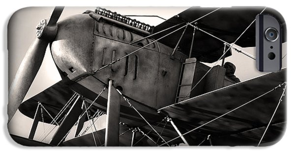 Wwi iPhone Cases - Biplane iPhone Case by Carlos Caetano