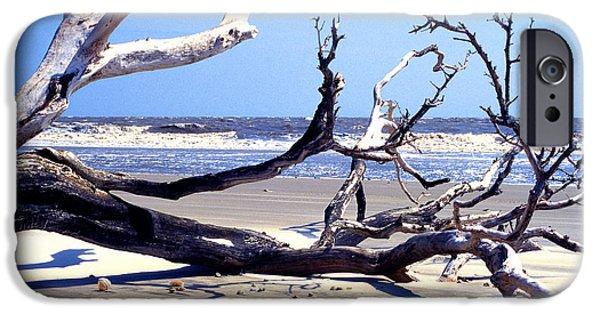 Kayak iPhone Cases - Blackbeard Island Beach iPhone Case by Thomas R Fletcher