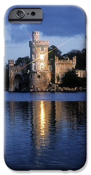 Reflections Of Sun In Water iPhone Cases - Blackrock Castle, River Lee, Near Cork iPhone Case by The Irish Image Collection