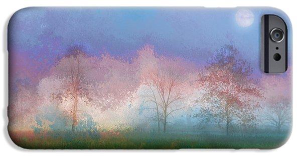 Landscapes Digital Art iPhone Cases - Blue Moon iPhone Case by Ron Jones