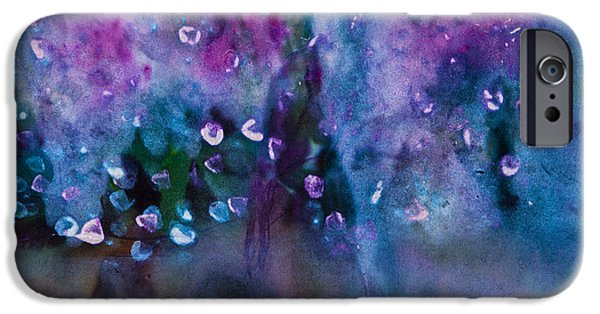 Oil Slick iPhone Cases - Blue Note iPhone Case by Don  Wright