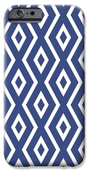 Pattern iPhone 6 Case - Blue Pattern by Christina Rollo