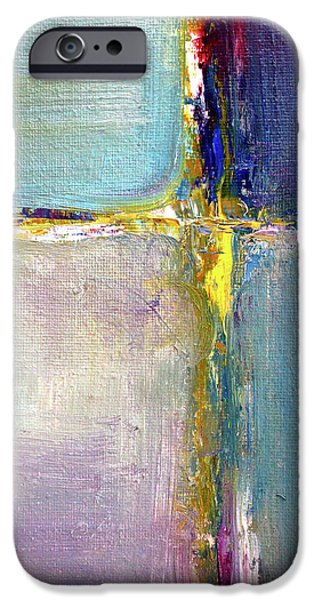 IPhone 6 Case featuring the painting Blue Quarters by Nancy Merkle