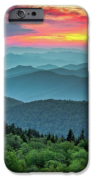Blue Ridge Parkway Sunset - The Great Blue Yonder IPhone 6 Case