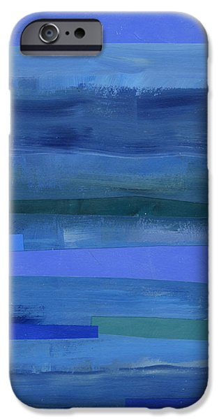 Pattern iPhone 6 Case - Blue Stripes 1 by Jane Davies