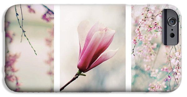 IPhone 6 Case featuring the photograph Blush Blossom Triptych by Jessica Jenney