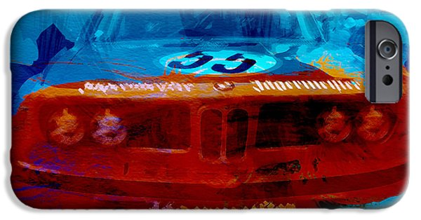Vintage Car iPhone Cases - Bmw Jagermeister iPhone Case by Naxart Studio