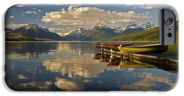 IPhone 6 Case featuring the photograph Boats At Lake Mcdonald by Gary Lengyel