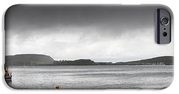 Design Pics - iPhone Cases - Boats Moored In The Harbor Oban iPhone Case by John Short