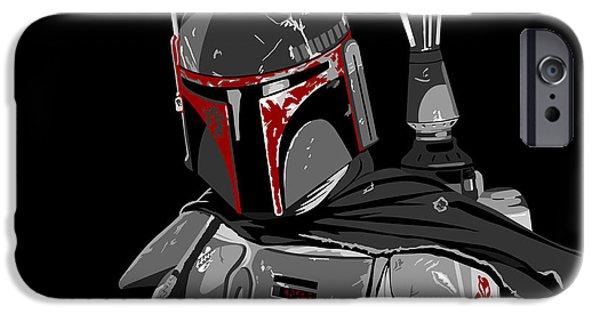 Yoda iPhone 6 Case - Boba Fett Star Wars Pop Art by Paul Dunkel