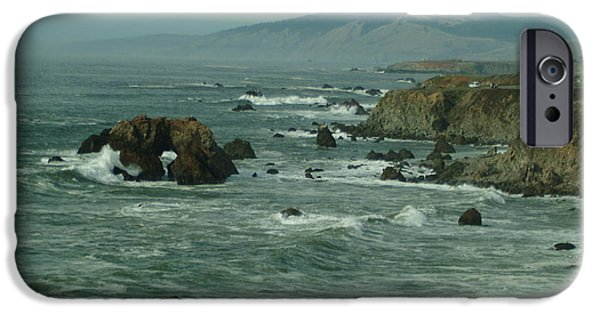 Bodega Bay iPhone Cases - Bodgea Bay Two iPhone Case by Alberta Brown Buller