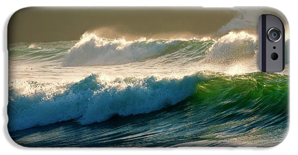 Oregon Coast iPhone Cases - Boiler Bay Waves Rolling iPhone Case by Mike  Dawson