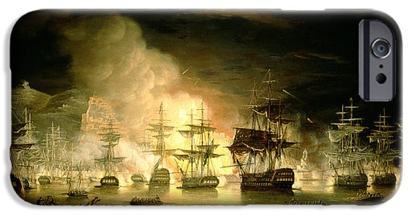Flaming iPhone Cases - Bombardment of Algiers iPhone Case by Thomas Luny