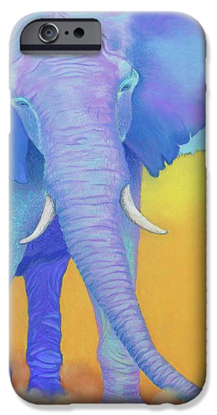 Gold Pastels iPhone Cases - Born of Wisdom iPhone Case by Tracy L Teeter