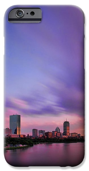 Charles River iPhone Cases - Boston Afterglow iPhone Case by Rick Berk