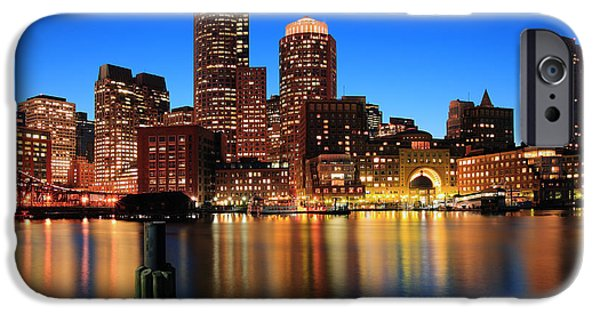 Twilight iPhone Cases - Boston Aglow iPhone Case by Rick Berk
