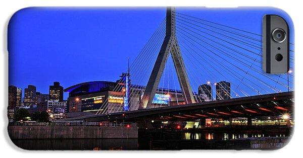 Boston Massachusetts iPhone Cases - Boston Garden and Zakim Bridge iPhone Case by Rick Berk