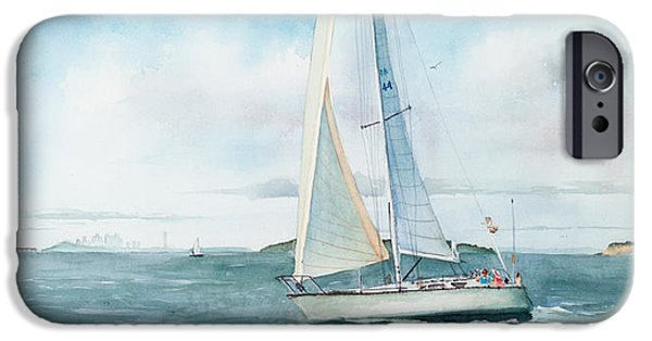 Water Ocean iPhone 6 Case - Boston Harbor Islands by Laura Lee Zanghetti