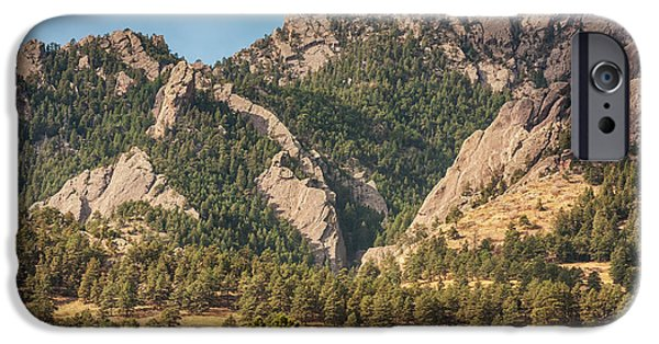 IPhone 6 Case featuring the photograph Boulder Colorado Rocky Mountain Foothills by James BO Insogna