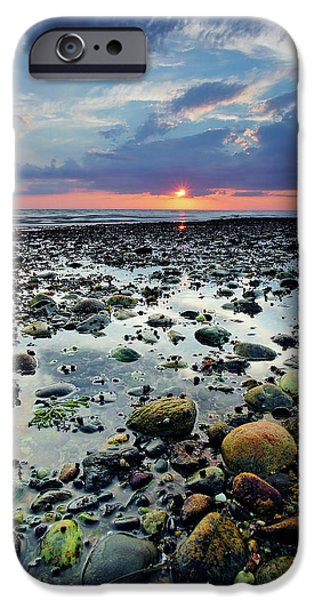 Cape Cod iPhone Cases - Bound Brook Sunset II iPhone Case by Rick Berk