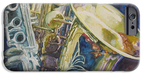 Swing Paintings iPhone Cases - Bouquet of Reeds iPhone Case by Jenny Armitage