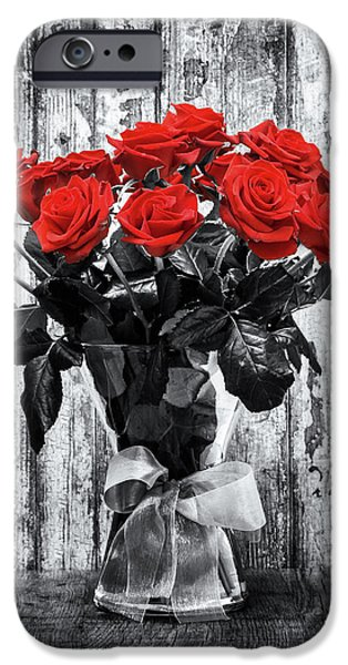 Red Rose iPhone 6 Case - Bouquet Of Roses by Wim Lanclus
