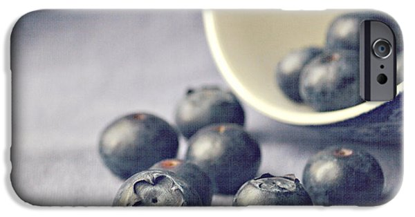 Blue iPhone 6 Case - Bowl Of Blueberries by Lyn Randle
