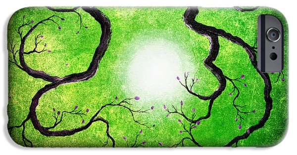 Zen Digital iPhone Cases - Branches Holding the Sun iPhone Case by Laura Iverson