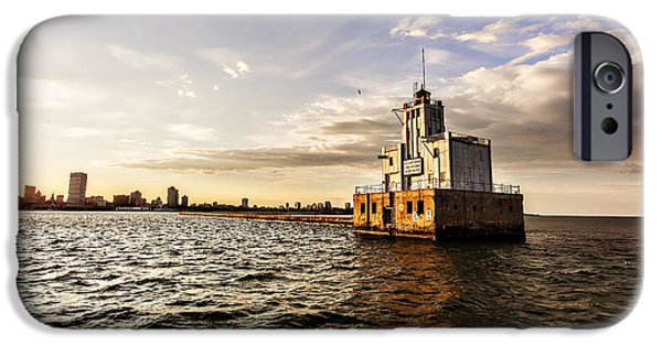 Cj iPhone Cases - Breakwater Lighthouse iPhone Case by CJ Schmit