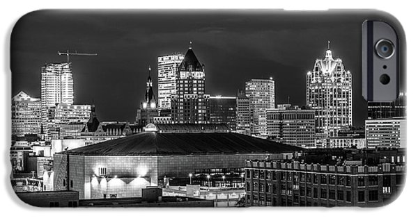 IPhone 6 Case featuring the photograph Brew City At Night by Randy Scherkenbach