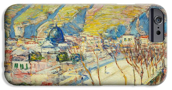 Childe iPhone Cases - Bridge at Posilippo at Naples iPhone Case by Childe Hassam