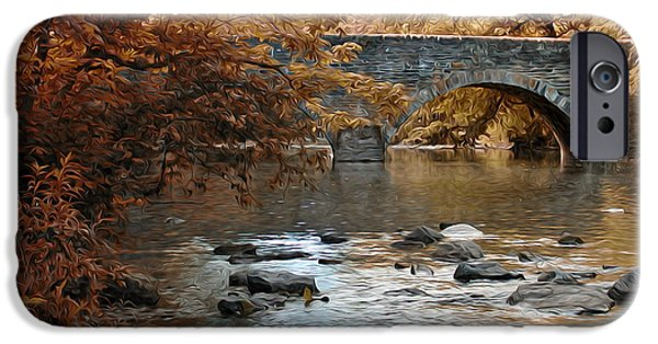 Phillies Digital iPhone Cases - Bridge Over the Wissahickon at Valley Green iPhone Case by Bill Cannon
