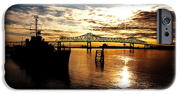 South Louisiana iPhone Cases - Bright Time on the River iPhone Case by Scott Pellegrin