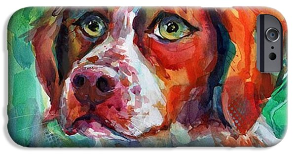 iPhone 6 Case - Brittany Spaniel Watercolor Portrait By by Svetlana Novikova