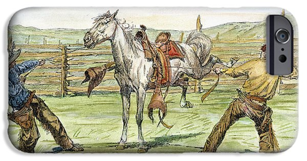 Chaps iPhone Cases - Bronco Busters iPhone Case by Granger