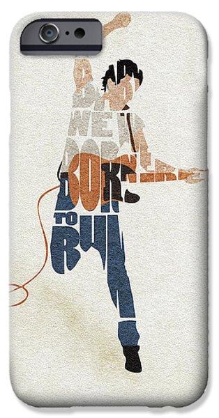 Folk Art iPhone 6 Case - Bruce Springsteen Typography Art by Inspirowl Design