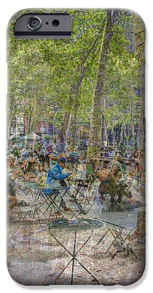 Bryant Park Collage 2 IPhone 6 Case by Dave Beckerman